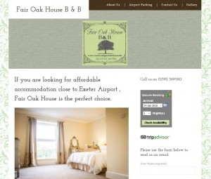 Website showcase www.exeterairporthotel.com
