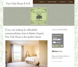 Website showcase www.exeterairporthotel.com