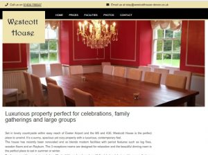 Westcott House Rockbeare – Luxurious property perfect for celebrations family gatherings and large groups
